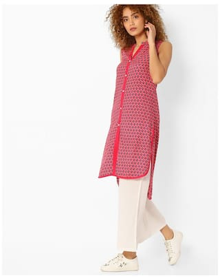 AVAASA MIX N' MATCH By Reliance Trends Red Rayon Kurtas