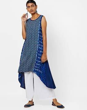 AVAASA MIX N' MATCH By Reliance Trends Blue Kurta