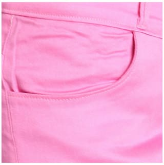 Lycra Chinos Cotton AVE Women Trouser Fashion Pink Wear qFnHgw7