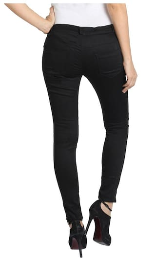 Chinos AVE Trouser Fashion Lycra Black Cotton Wear Women BSqOYRT