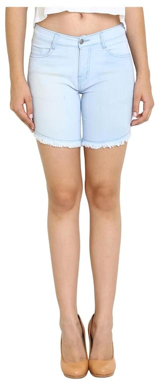 Shorts Light Wear Slim Women's Blue AVE Fashion For Fit qvZwP61