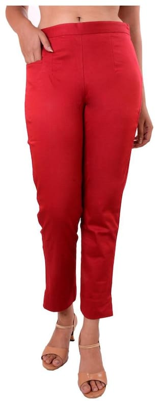 Awesome Women's Maroon Lycra Pant