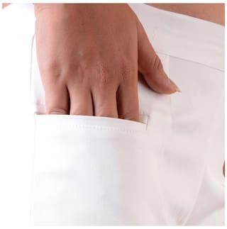 Lycra Pant Women's white Awesome Off qtwHIAT