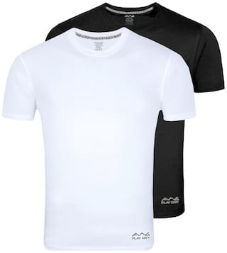 AWG - All Weather Gear Men Multi Regular fit Polyester Round neck T-Shirt - Pack Of 2