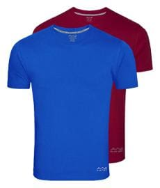 AWG - All Weather Gear Men Multi Regular fit Polyester Round Neck T-Shirt -Pack of 2