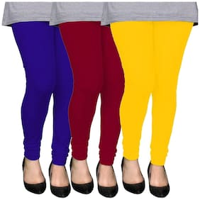 AYAN Cotton Leggings - Blue & Maroon