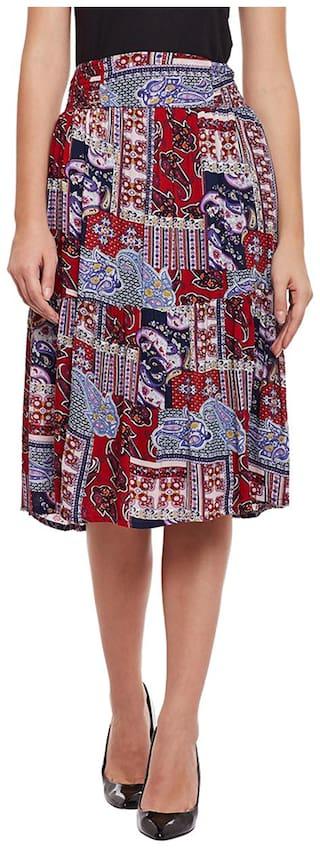 Oxolloxo Polka dots A-line skirt Midi Skirt - Multi