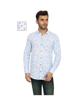 BALINO LONDON Men Slim Fit Casual shirt - White
