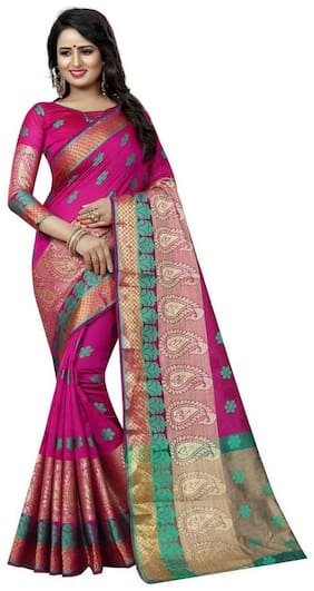banarasi jacquard cotton saree unique approach for  beautiful saree