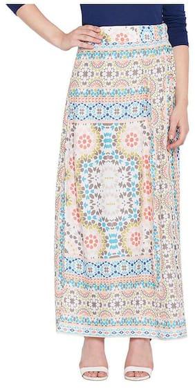 OXOLLOXO Printed A-line Skirt Midi Skirt - Multi