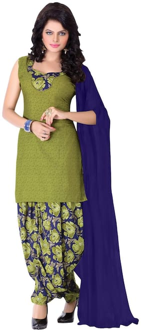 BanoRani Green Dress Material