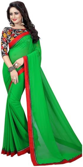 Bansidhar Green Universal Designer Saree , With blouse