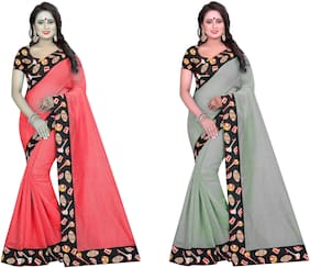Bansidhar Fabrics Chaderi Cotton 2 sarees