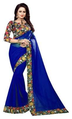 Bansidhar Fabrics Cotton Saree With Printed Blouse