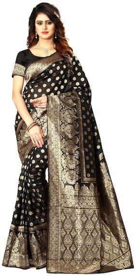Bansidhar Fabrics Banarasi Cotton Jacquar Saree With Blouse