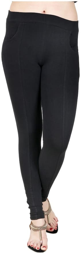 BAREMODA Black Cotton And Lycra Jegging