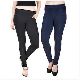 Baremoda Women Blue & Black Skinny fit Jegging