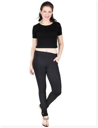 Of Red Combo Jeggings Cotton Baremoda 2 Black fZXUTfn6