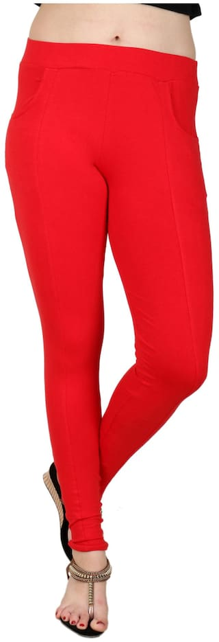 BAREMODA Red Cotton And Lycra Jegging