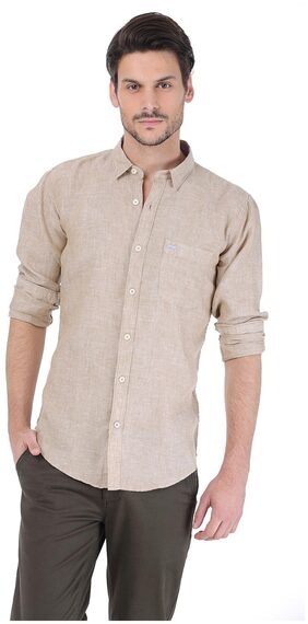 BASICS Men Regular Fit Casual shirt - Beige