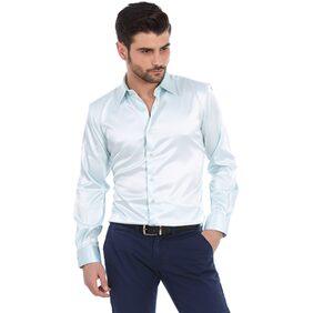 BASICS Men Regular Fit Formal Shirt - Blue