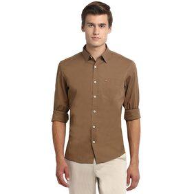 BASICS Men Slim Fit Casual shirt - Brown