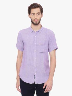 BASICS Men Slim Fit Casual shirt - Purple