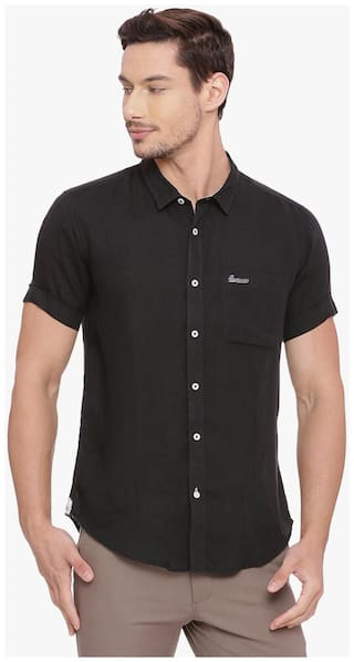 BASICS Men Slim Fit Casual shirt - Black