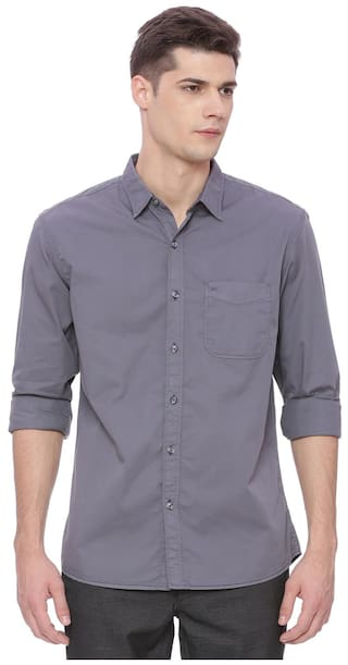 BASICS Men Slim Fit Casual shirt - Grey