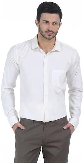 BASICS Men Regular Fit Formal Shirt - Beige