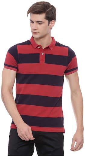 Basics Muscle Fit American Beauty Polo T Shirt