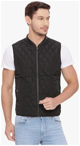 Men Solid Polyester Ethnic Jacket ,Pack Of Pack Of 1