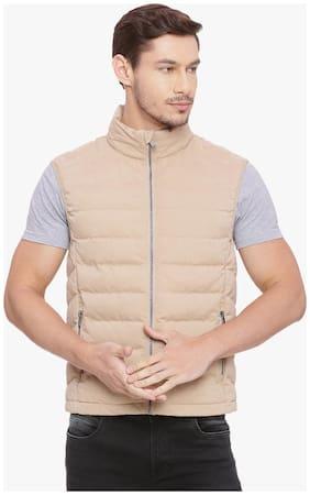 Men Solid Polyester Ethnic Jacket