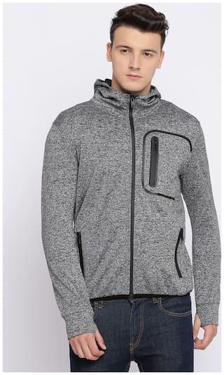 BASICS Men Grey Solid Slim Fit Ethnic Jacket