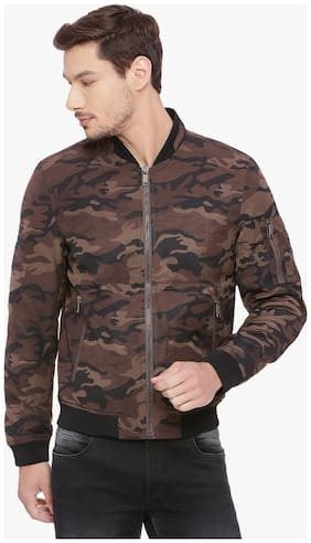 Men Printed Polyester Ethnic Jacket ,Pack Of Pack Of 1