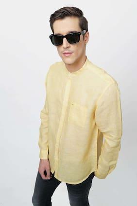 BASICS Men Regular Fit Casual shirt - Yellow