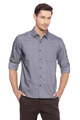 BASICS Men Slim Fit Casual shirt - Grey