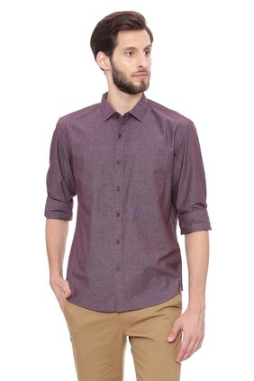 BASICS Men Slim Fit Casual shirt - Purple