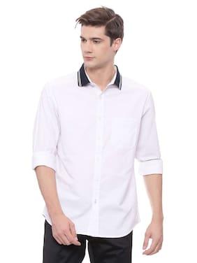 BASICS Men Slim Fit Casual shirt - White