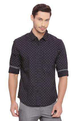 BASICS Men Slim Fit Casual shirt - Black