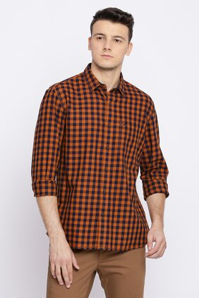 BASICS Men Slim Fit Casual shirt - Orange