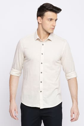 BASICS Men Slim Fit Casual shirt - Beige