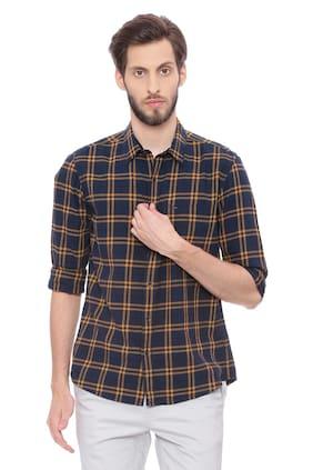 BASICS Men Slim Fit Casual shirt - Yellow