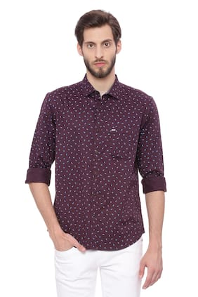 BASICS Men Slim Fit Casual shirt - Brown