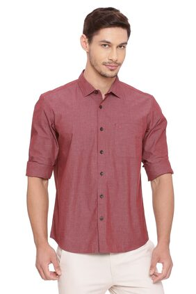 BASICS Men Slim Fit Casual shirt - Red