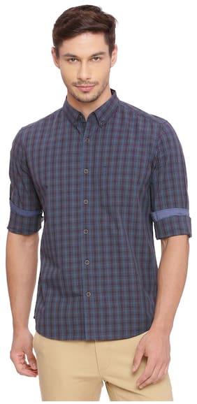 BASICS Men Slim Fit Casual shirt - Blue