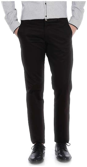 Basics Tapered Fit Steel Grey Satin Trousers