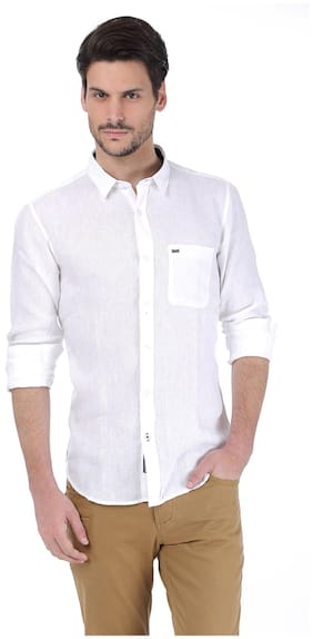 BASICS Men Slim Fit Casual shirt - White