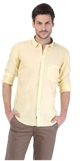 Men Slim Fit Weaved Casual Shirt ,Pack Of Pack Of 1