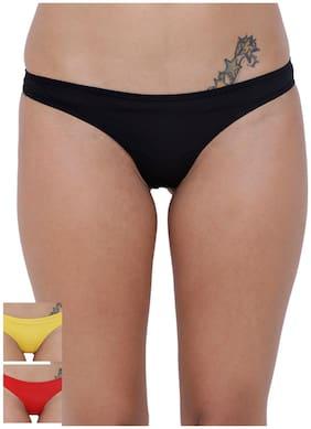 BASIICS by La Intimo Women's PolySpandex Spiffy Semiseamless Panty